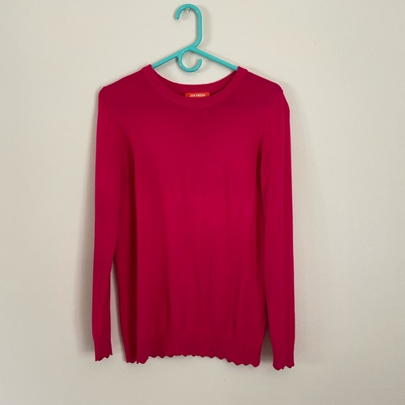 🌵3/$25  Pink Joe Fresh Scalloped Edge Sweater